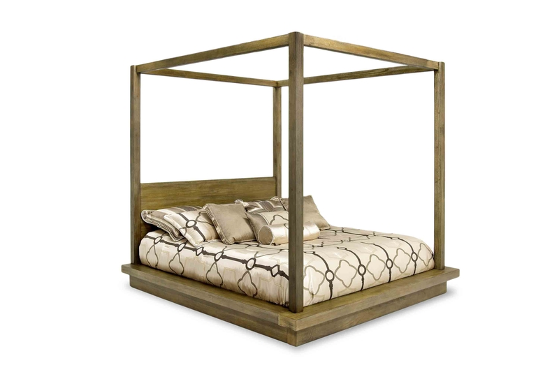 Melbourne Canopy Bed In Brown California King Mor Furniture