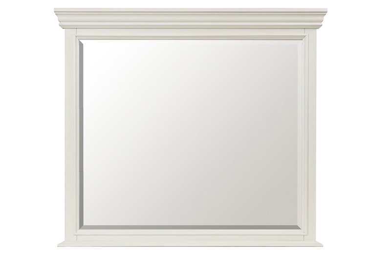 Slater Mirror in White | Mor Furniture