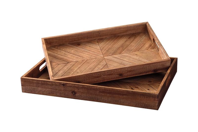 Dewitt Wood Trays, Set of 2, Image 1