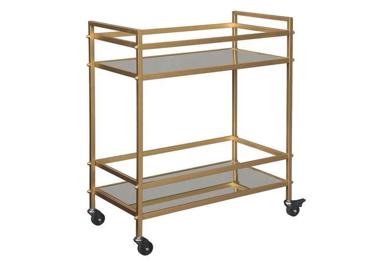 Kailman Bar Cart in Gold, Image 1