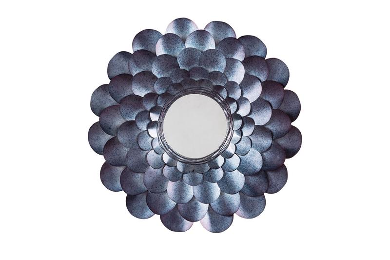 Deunoro Circle Mirror in Blue, Image 1