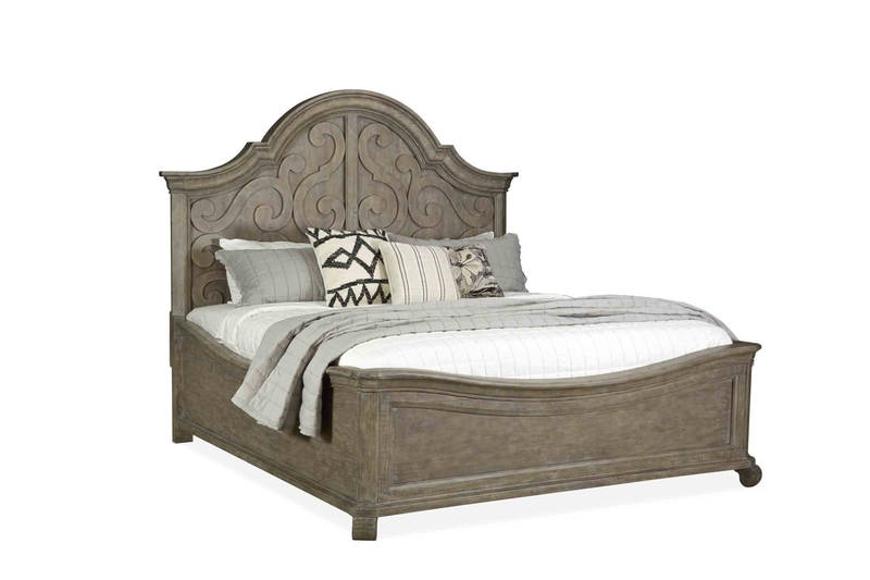 Bellamy Arch Panel Bed in Gray, Queen, Image 1