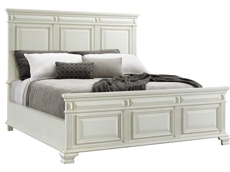 Calloway Panel Bed in White, Queen, Image 1