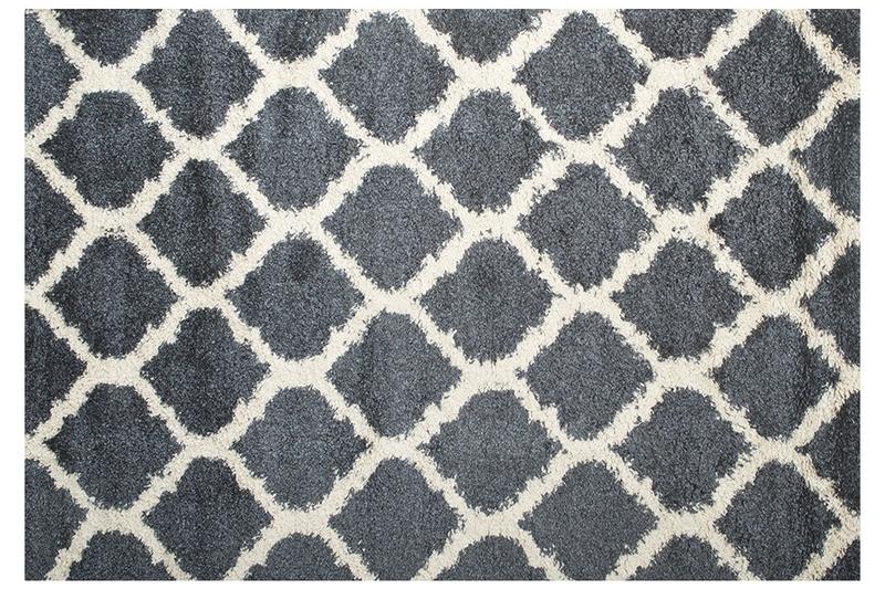 Comfort Shag Rug in Blue & White, 5 x 8, Image 1