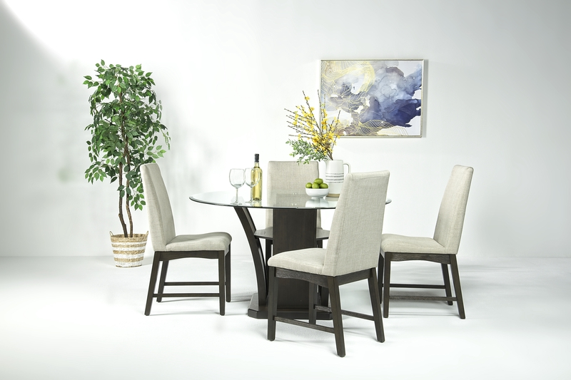 Dapper Round Dining Table & 4 Chairs in Brown, Image 1