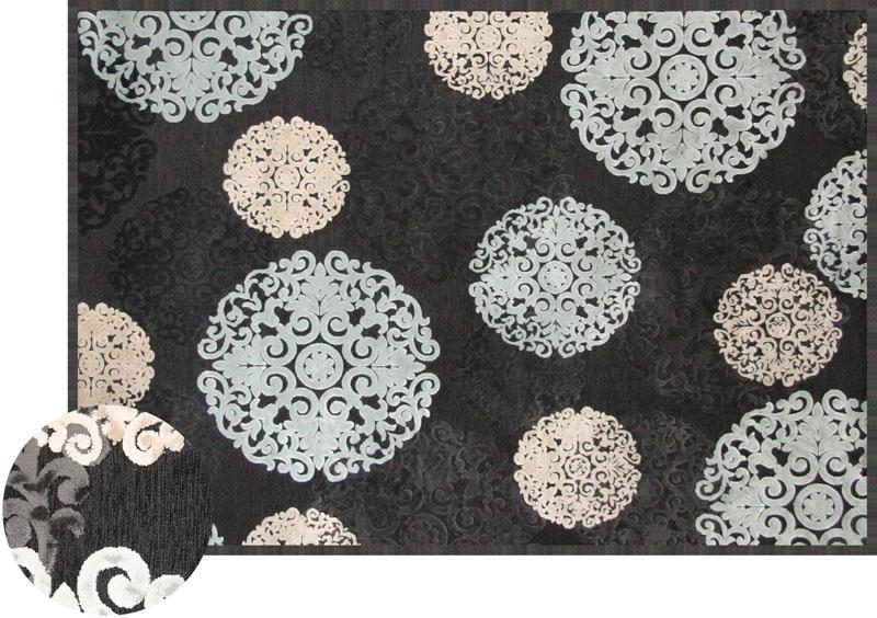 Napa Rug in Charcoal Snowflake, 5 x 8, Image 1
